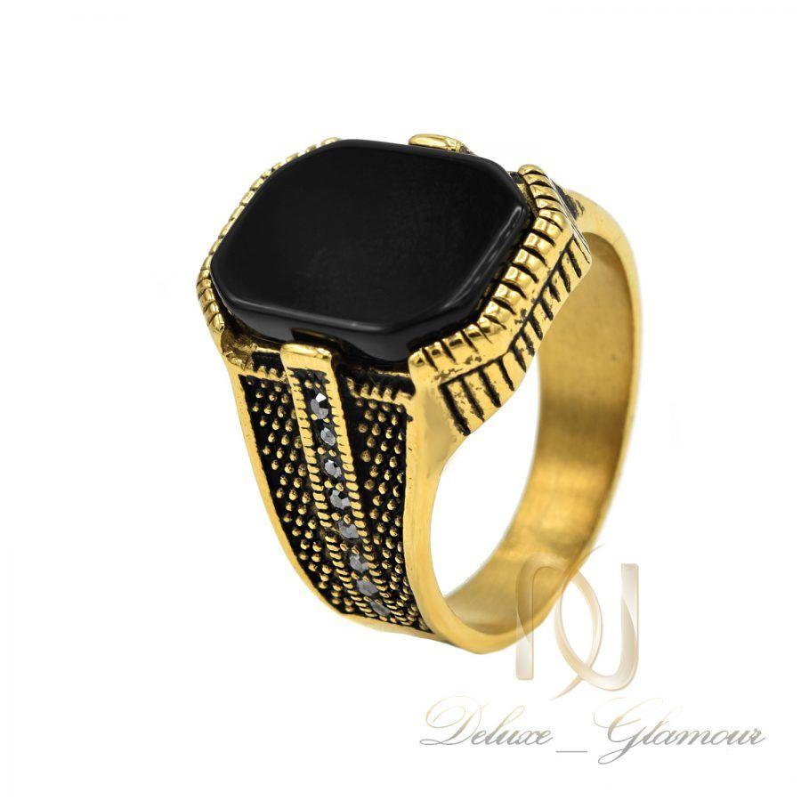 انگشتر مردانه 2   انگشتر مردانه استیل طلایی اسپرت rg-n745