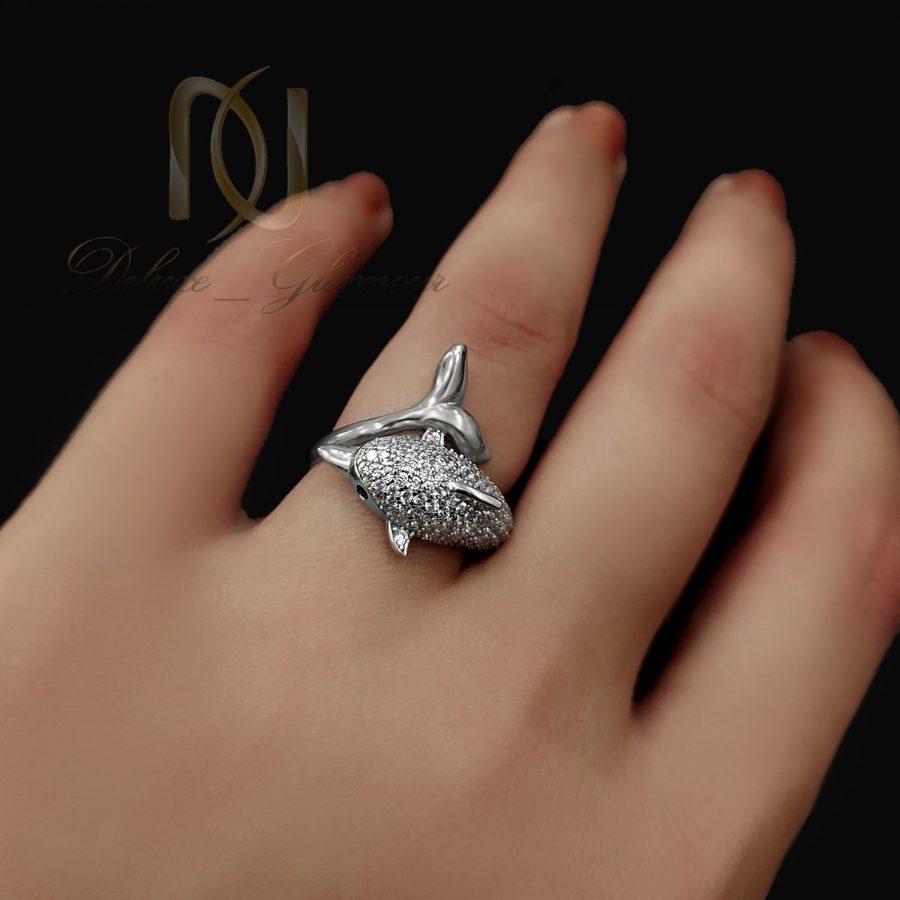 انگشتر نقره زنانه 2 | انگشتر طرح دلفین نقره 925 اصل شیک rg-n736