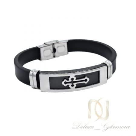 دستبند مردانه اسپرت طرح صلیب ds-n858