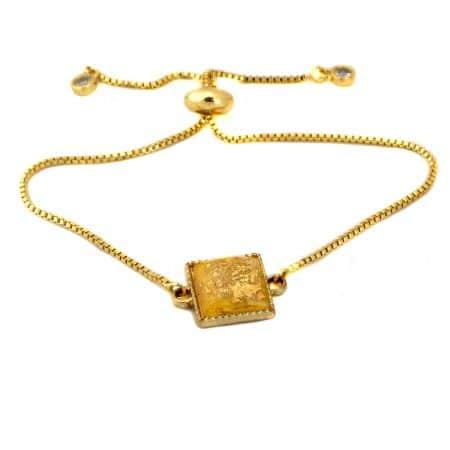 دستبند سنگی دخترانه دست ساز ma-n604