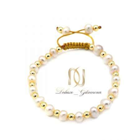 دستبند دخترانه مرواریدی دست ساز ds-n859