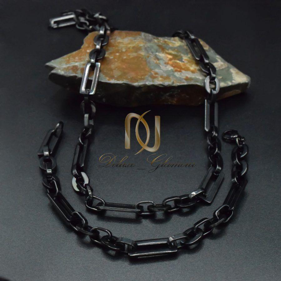ست دستبند و گردنبند مردانه استیل ns-n847