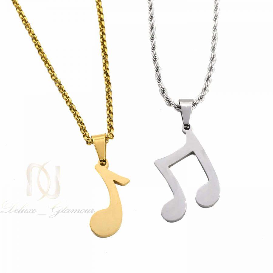 گردنبند ست استیل طرح نت موسیقی nw-n806