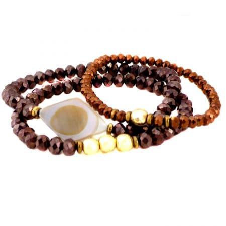 پک دستبند دستساز دخترانه شیک ma-n603