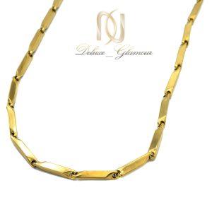 زنجیر مردانه استیل روکش آب طلا nw-n804