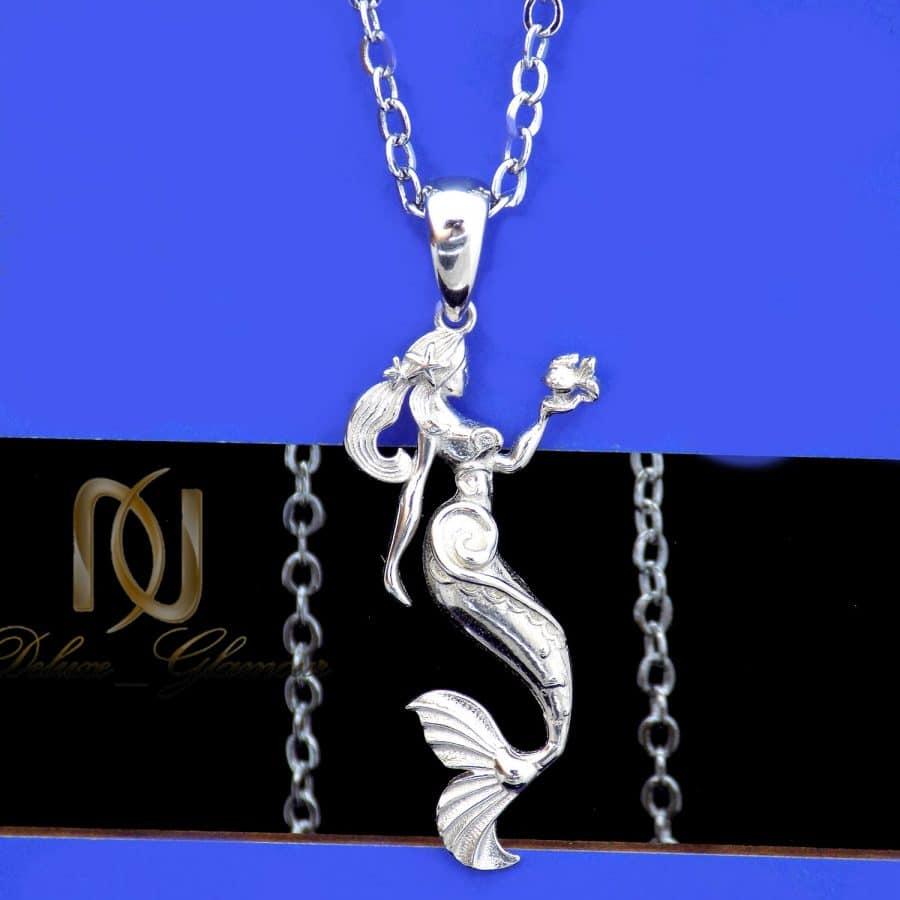 گردنبند نقره خاص طرح پری دریایی ma n589 3   گردنبند نقره خاص طرح پری دریایی ma-n589