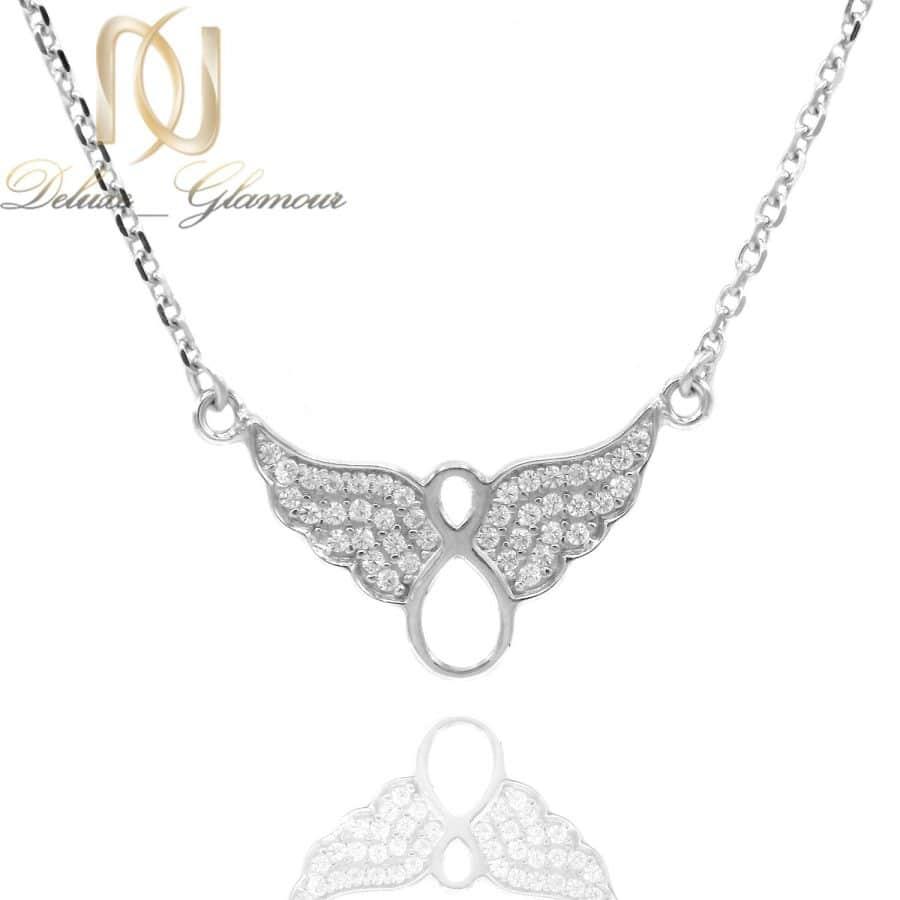 گردنبند نقره دخترانه طرح بی نهایت ma n591 | گردنبند نقره دخترانه طرح بی نهایت ma-n591