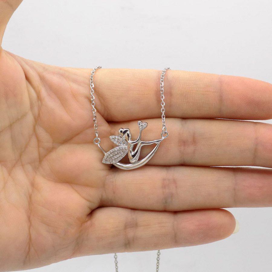 گردنبند نقره دخترانه طرح فرشته ma n590 2 | گردنبند نقره دخترانه طرح فرشته ma-n590