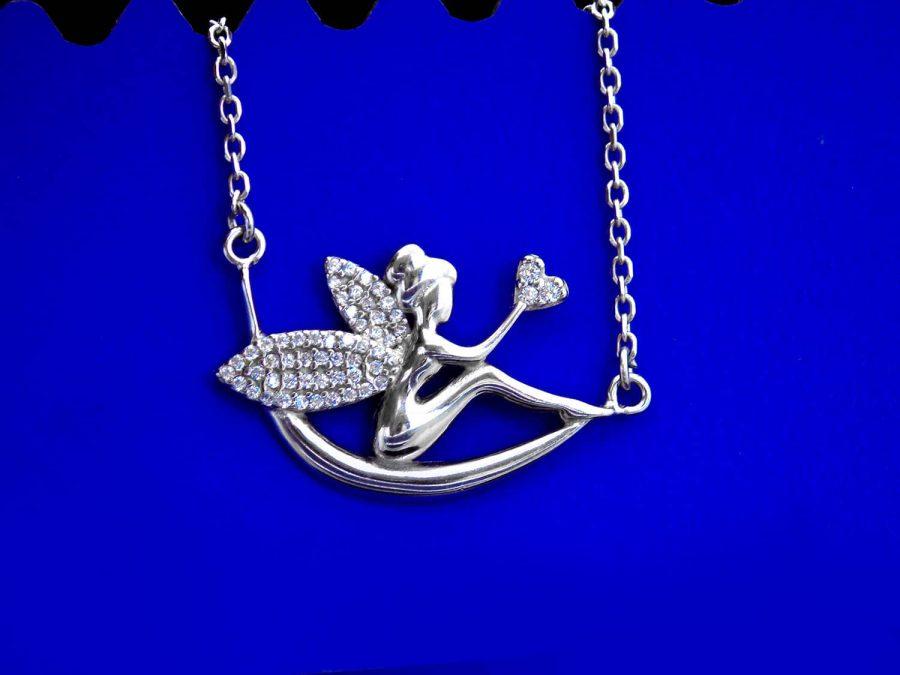 گردنبند نقره دخترانه طرح فرشته ma n590 4 | گردنبند نقره دخترانه طرح فرشته ma-n590